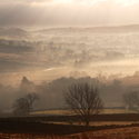 Lowther Valley, morning mist covering the floor of beautiful Cumbrian valley