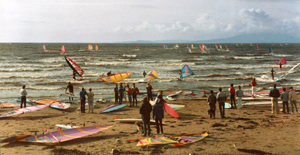 Windsurfing at Seamill Watersports Centre, 1985